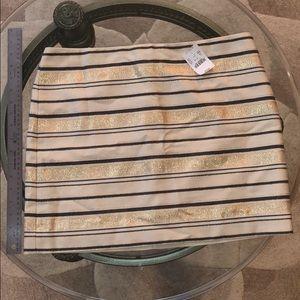 J. Crew skirt | Size 10 | Shiny Gold Striped Skirt